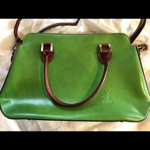 Gorgeous green Made in Italy leather bag